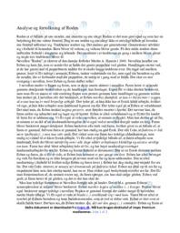 Roden | Analyse | Martin A. Hansen | 12 i Karakter