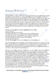 William | Analyse | Jan Sonnergaard | 12 i Karakter
