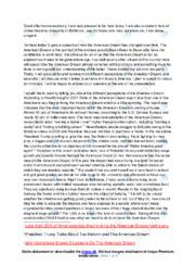 Amеrican Drеam | Speech | 10 i Karakter