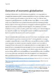 Economic Globalization | Engelsk Essay | 10 i Karakter