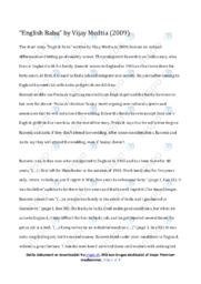 English Babu | Analyse | Vijay Medtia | 10 i Karakter