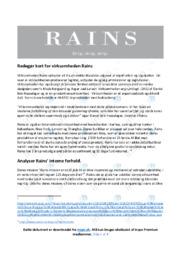 Rains | Afsætning | 10 i Karakter