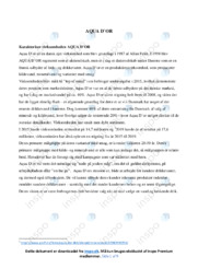 AQUA DOR   Analyse   10 i karakter
