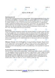 AQUA DOR AS   Analyse   10 i karakter