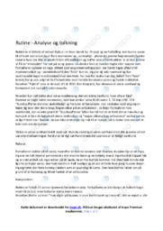 Rutine | Analyse | 10 i Karakter