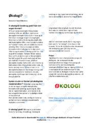 Økologi | Noter Dansk Essay
