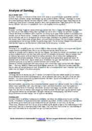Søndag | Analyse | Naja Marie Aidt | 10 i Karakter