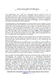 Guldhornene   Analyse   Adam Oehlenschläger   12 i Karakter