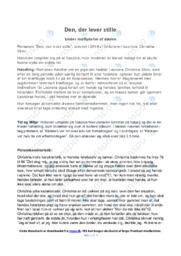 Den der lever stille | Analyse | Noter