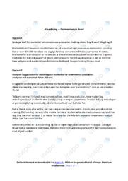 Convenience food | Analyse | 10 i karakter