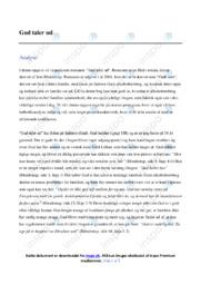 Gud taler ud   Analyse   Jens Blendstrup   10 i Karakter