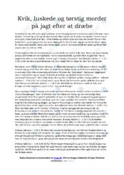 Nattevagten   Analyse   Ole Bornedal   10 i Karakter
