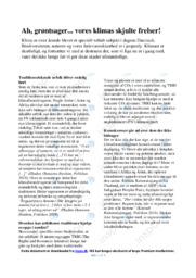 Grøntsager | Dansk Essay | 10 i Karakter