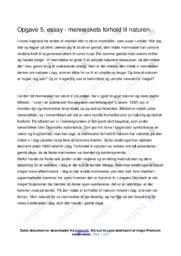 Menneskets Forhold til Naturen | Dansk Essay | 10 i Karakter