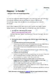 E-handel   Analyse   10 i karakter