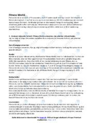 Fitness World | Afsætning | 10 i Karakter