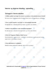 Interne og eksterne situation   Analyse   10 i karakter
