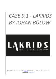 Lakrids By Johan Bülow   Afsætning Case   10 i Karakter