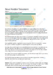 Novo Nordisk Taksonomi | Analyse
