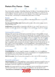 Porters Five Forces  | Analyse | 10 i karakter