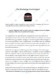 The Marketing Invoriment | Analyse