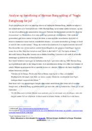 Nogle Fattigbesøg før jul   Analyse   Herman Bang   10 i Karakter