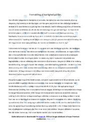 Skjold og Isabel | Analyse | Emil Næsby Hansen | 10 i Karakter