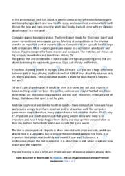 Esport   Engelsk Essay   10 i Karakter