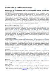 Værdikæden og konkurrencestrategier   Afsætning   10 i Karakter