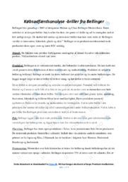Bellinger | Afsætning | 12 i Karakter