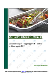 Convenienceprodukter   Analyse   12 i karakter