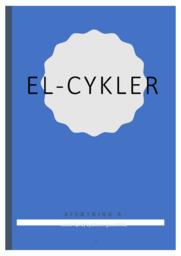El Cykler   Afsætning   12 i Karakter