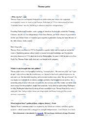 Thomas paine | Engelsk | 10 i Karakter
