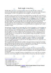 Boyz n the hood   Analyse   John Singleton   12 i Karakter