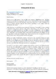 Fitchpatrick & Sons | Business Email | 12 i Karakter