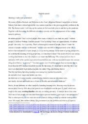 Speech | Engelsk | 12 i Karakter