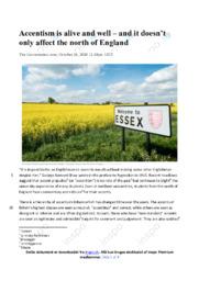 Accentism is alive and well | Engelsk Essay | 12 i Karakter