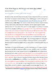 A tale of two Americas | Analyse | Anand Giridharadas | 10 i Karakter