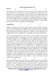 Hemi's gift | Analyse | TJ Corrigan | 10 i Karakter