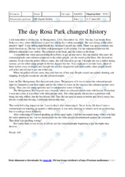 The day Rosa Park changed history | Essay