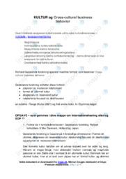 Kultur & Cross-cultural business   Afsætning   12 i Karakter