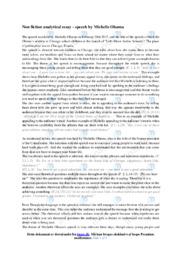 Speech by Michelle Obama   Essay   10 i karakter