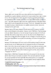 The Patriot  | Essay | 10 i karakter