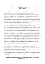 The School System | Opgave | 10 i karakter