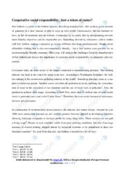 Cooperative social responsibility   Essay   12 i karakter