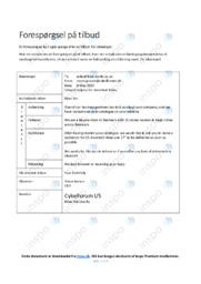 Forespørgsel på tilbud   Opgave   12 i karakter