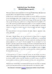 Michelle Obama speech | Essay | 12 i karakter