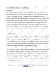 Goldhawk | Analyse | Katherine Magyarody | 12 i Karakter