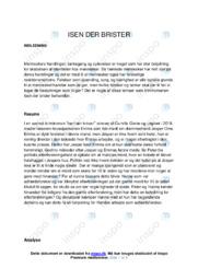 Isen der brister | Analyse | Camilla Grebe | 10 i Karakter