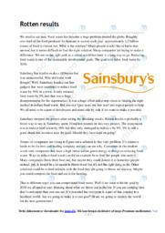 Sainsbury | Analysis | 10 i karakter